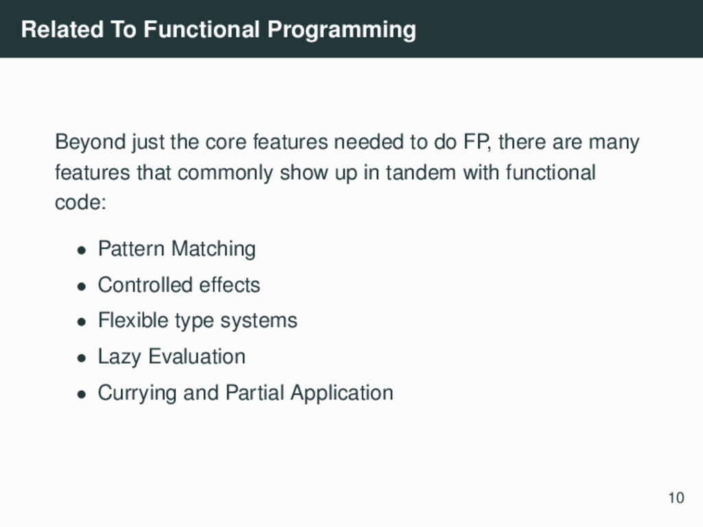 Related To Functional Programming Beyond just t...