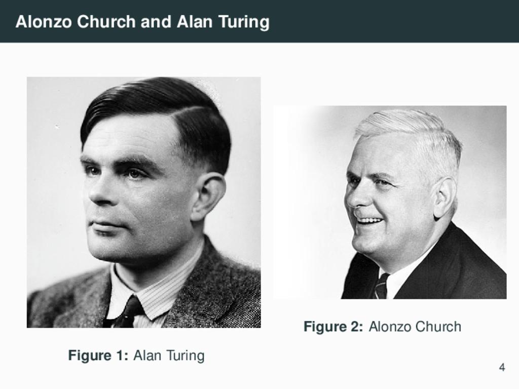 Alonzo Church and Alan Turing Figure 1: Alan Tu...