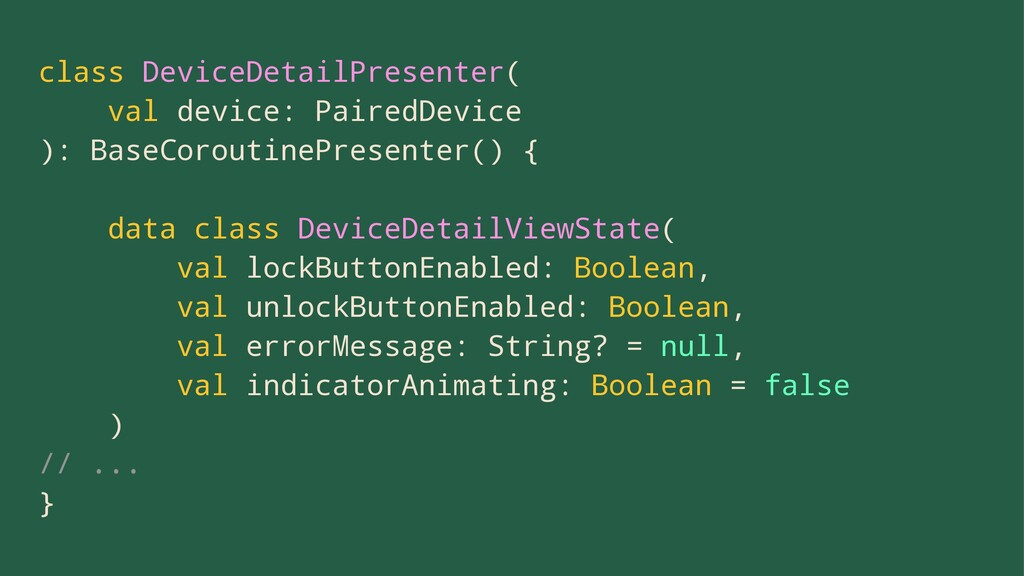 class DeviceDetailPresenter( val device: Paired...