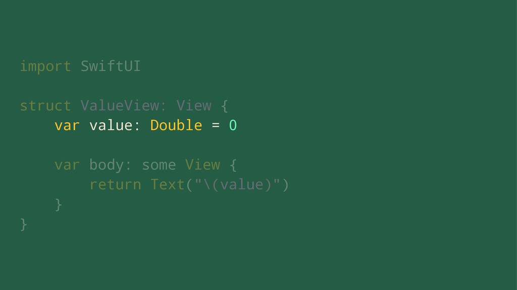 import SwiftUI struct ValueView: View { var val...