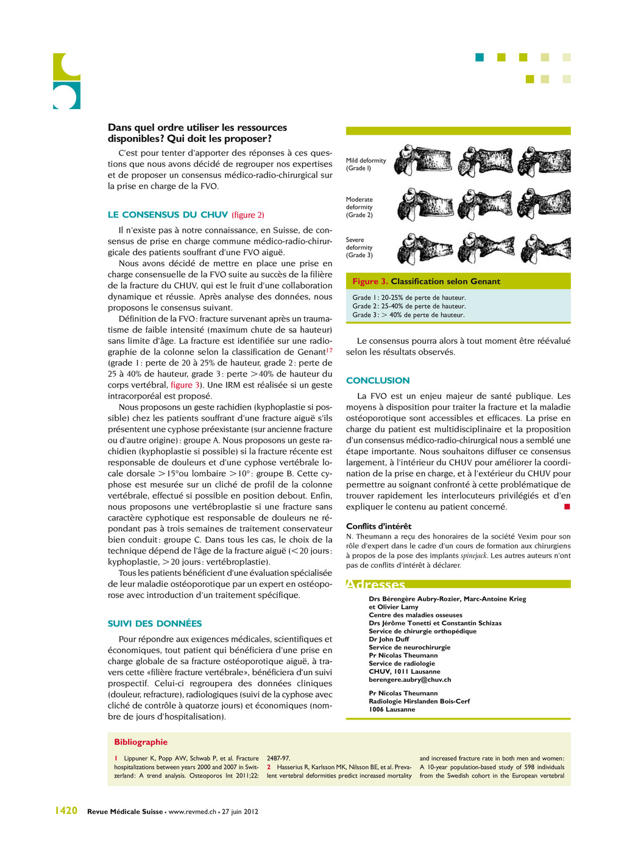 Revue Médicale Suisse – www.revmed.ch – 5 janvi...