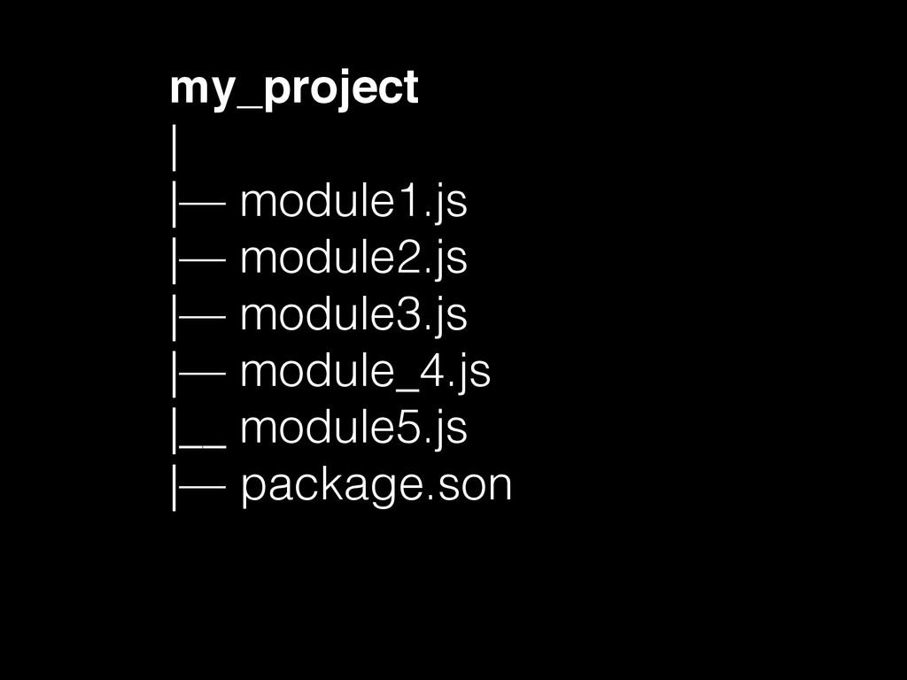 my_project | |— module1.js |— module2.js |— mod...