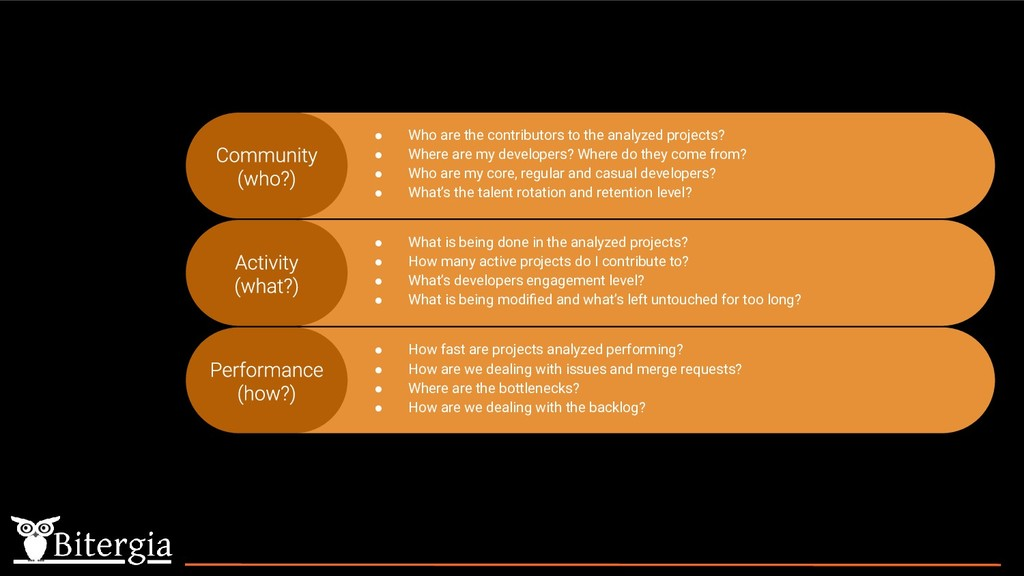 ● What is being done in the analyzed projects? ...