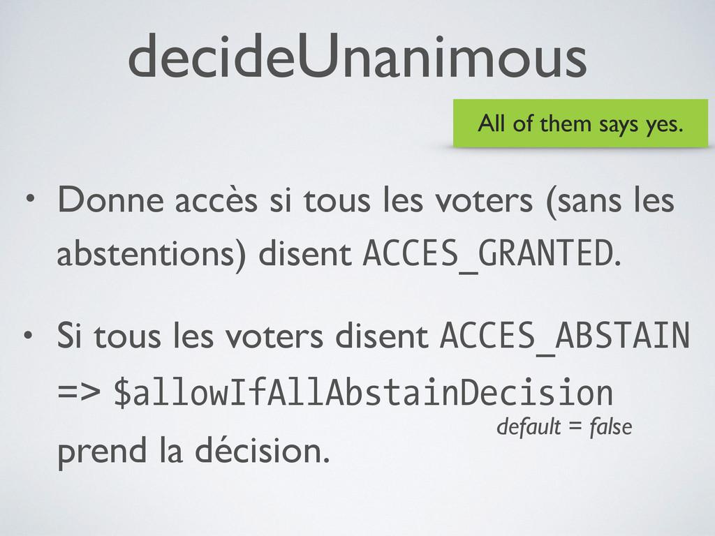 decideUnanimous • Donne accès si tous les voter...