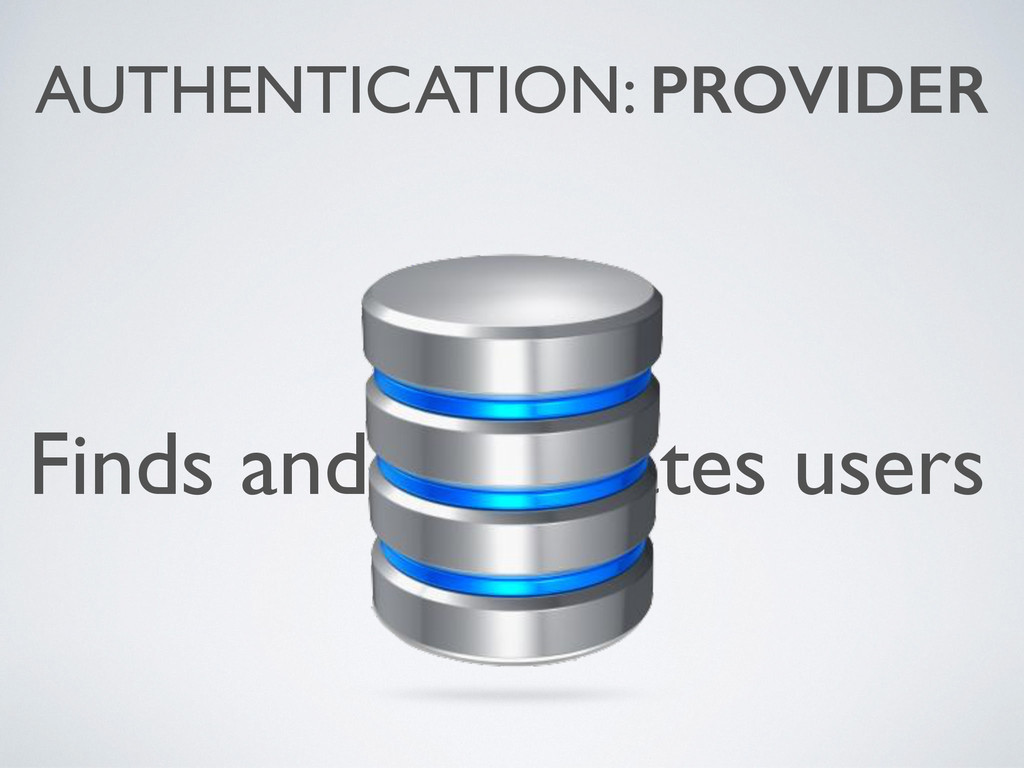 Finds and/or creates users AUTHENTICATION: PROV...