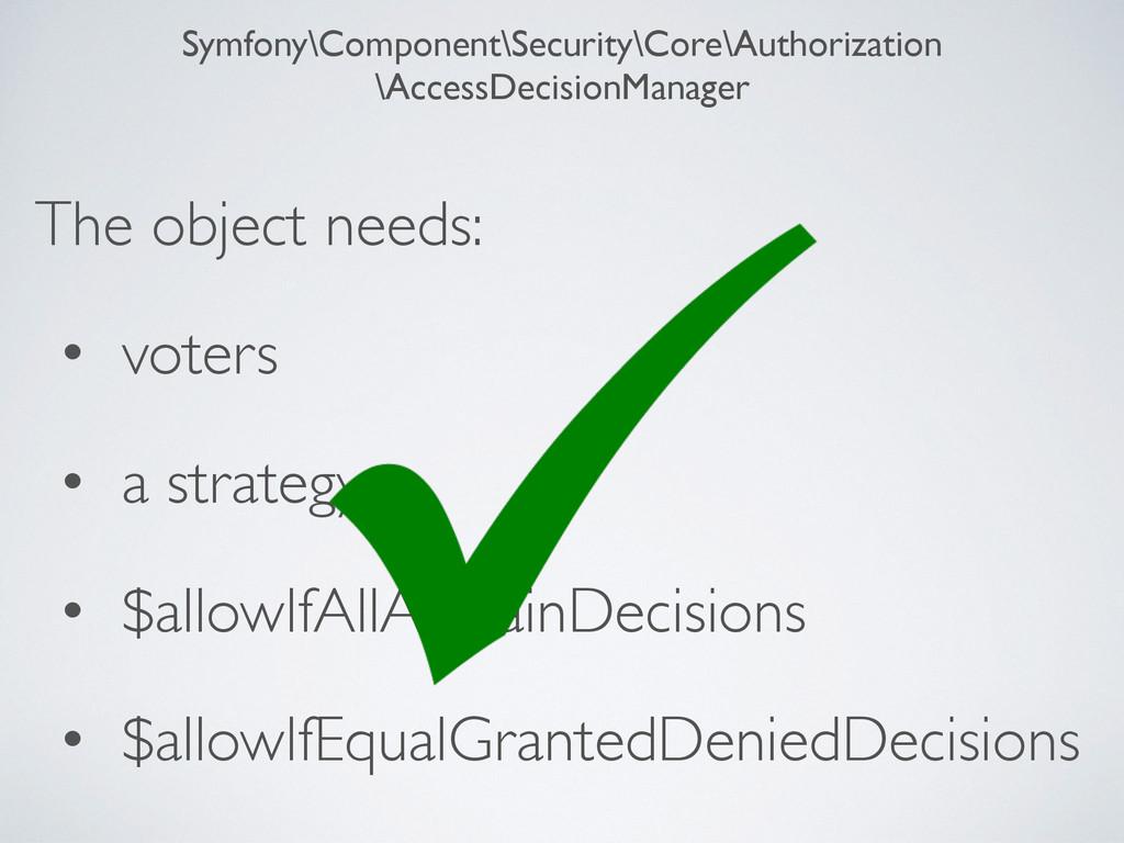 Symfony\Component\Security\Core\Authorization \...