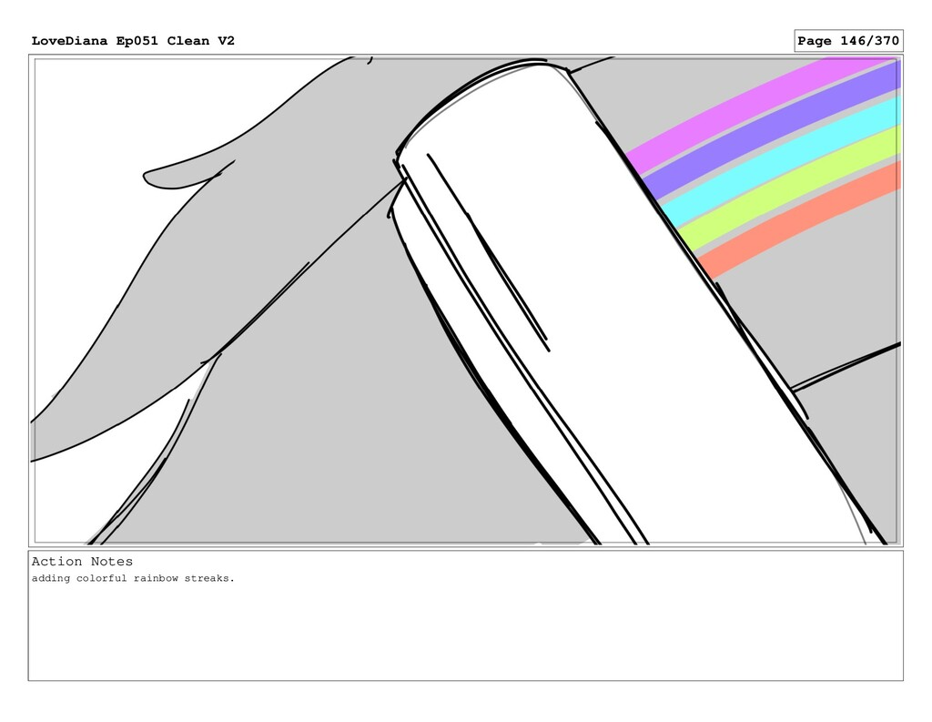 Action Notes adding colorful rainbow streaks. L...