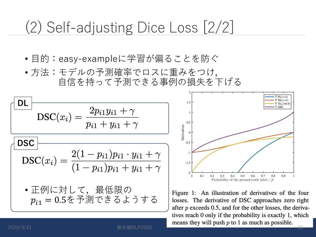 (2) Self-adjusting Dice Loss [2/2] • ⽬的:easy-ex...