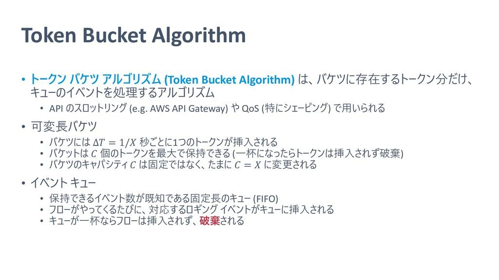 Token Bucket Algorithm • トークン バケツ アルゴリズム (Token...