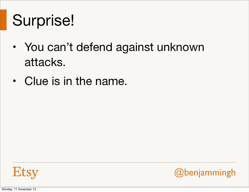 @benjammingh Surprise! • You can't defend again...