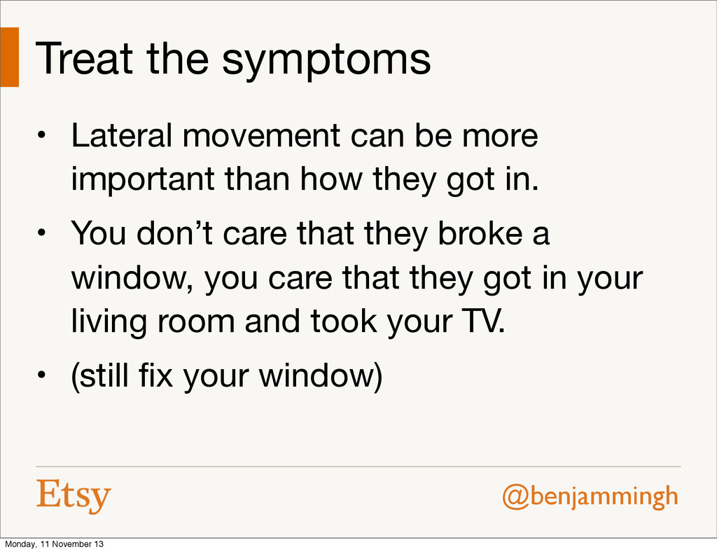 @benjammingh Treat the symptoms • Lateral movem...