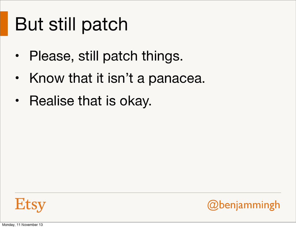 @benjammingh But still patch • Please, still pa...