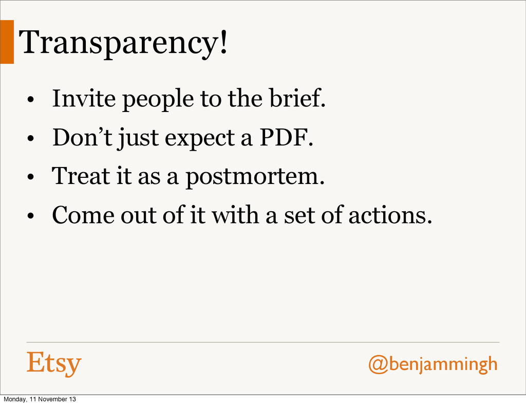 @benjammingh Transparency! • Invite people to t...