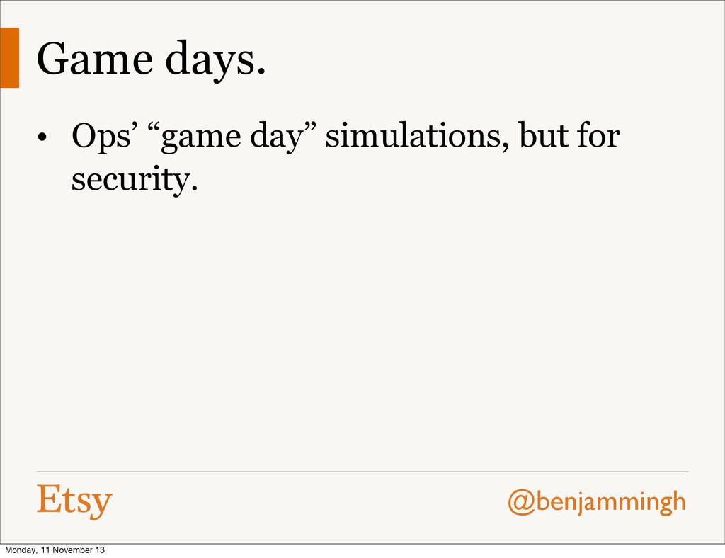 """@benjammingh Game days. • Ops' """"game day"""" simul..."""