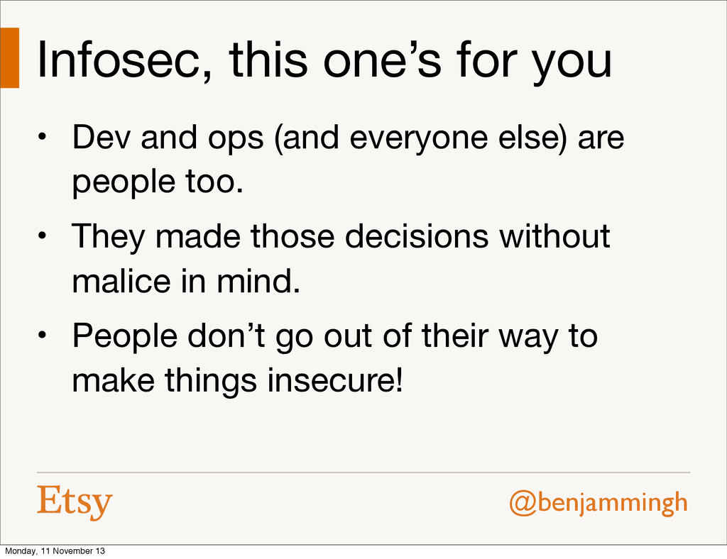 @benjammingh Infosec, this one's for you • Dev ...