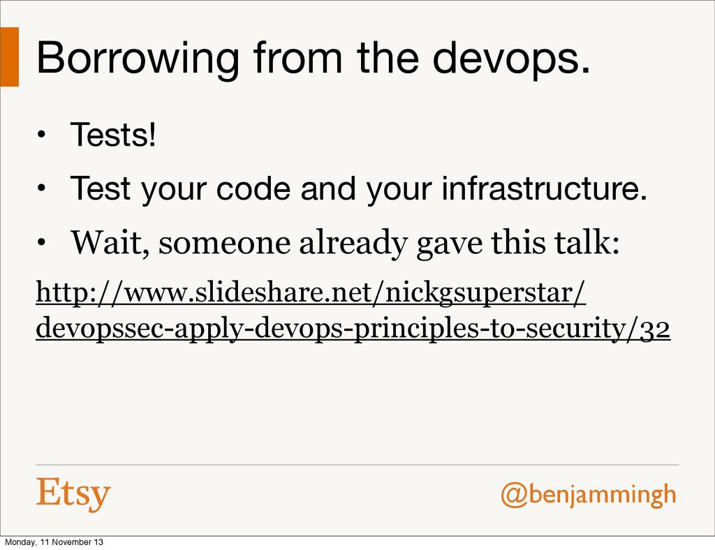 @benjammingh Borrowing from the devops. • Tests...