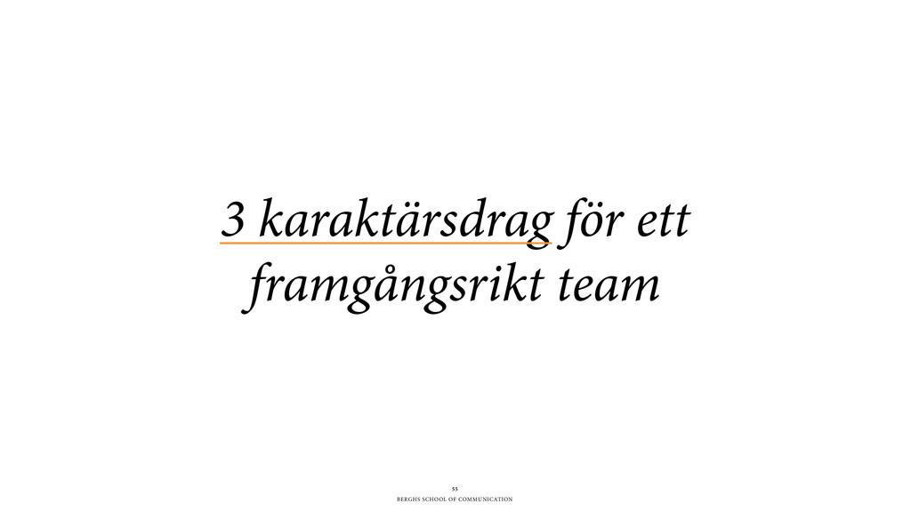 BERGHS SCHOOL OF COMMUNICATION 55 3 karaktärsdr...