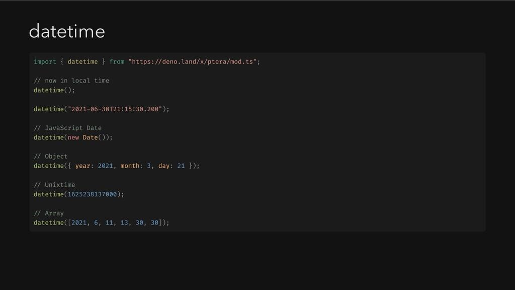 "datetime import { datetime } from ""https://deno..."