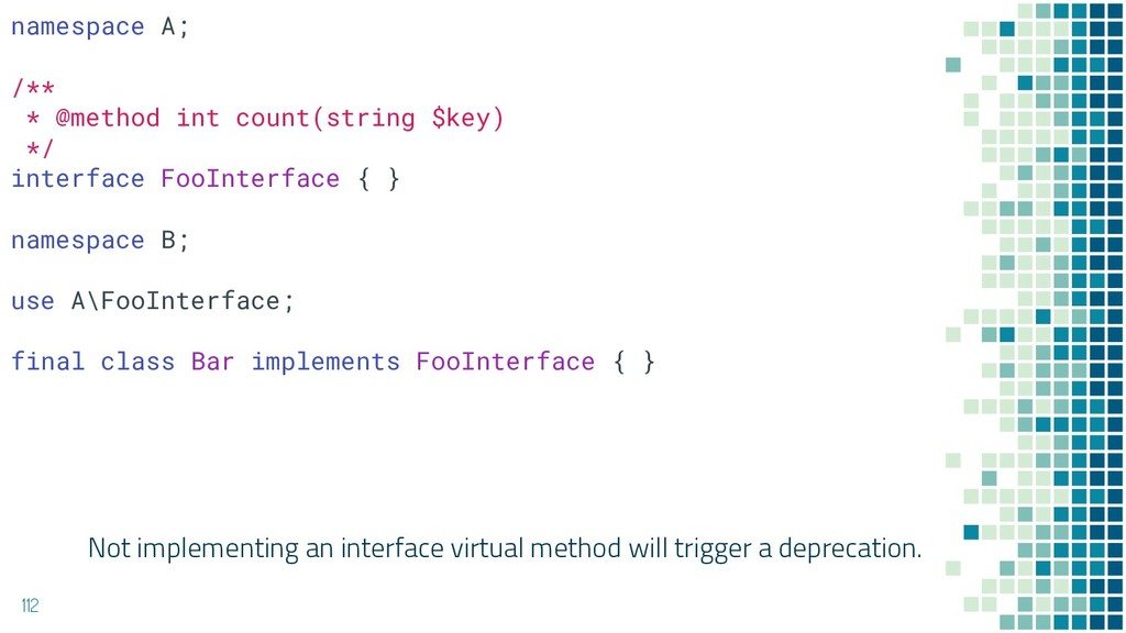 Not implementing an interface virtual method wi...