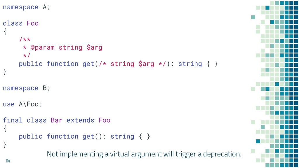 Not implementing a virtual argument will trigge...
