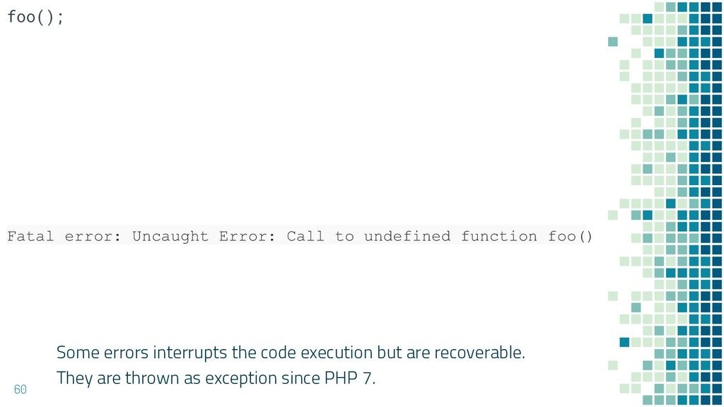 Some errors interrupts the code execution but a...