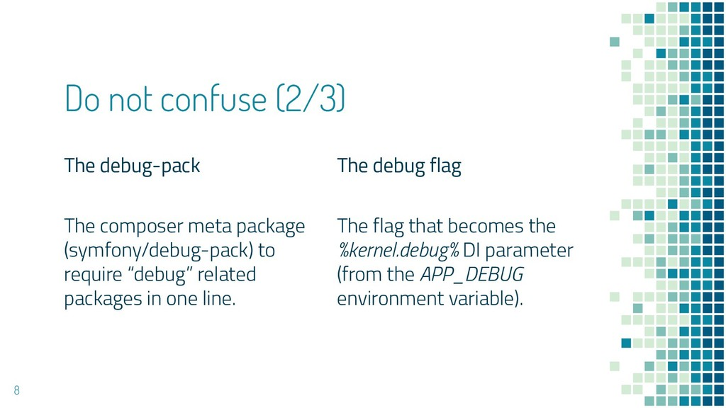 The debug-pack The composer meta package (symfo...
