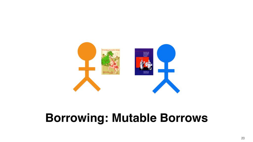 Borrowing: Mutable Borrows 20