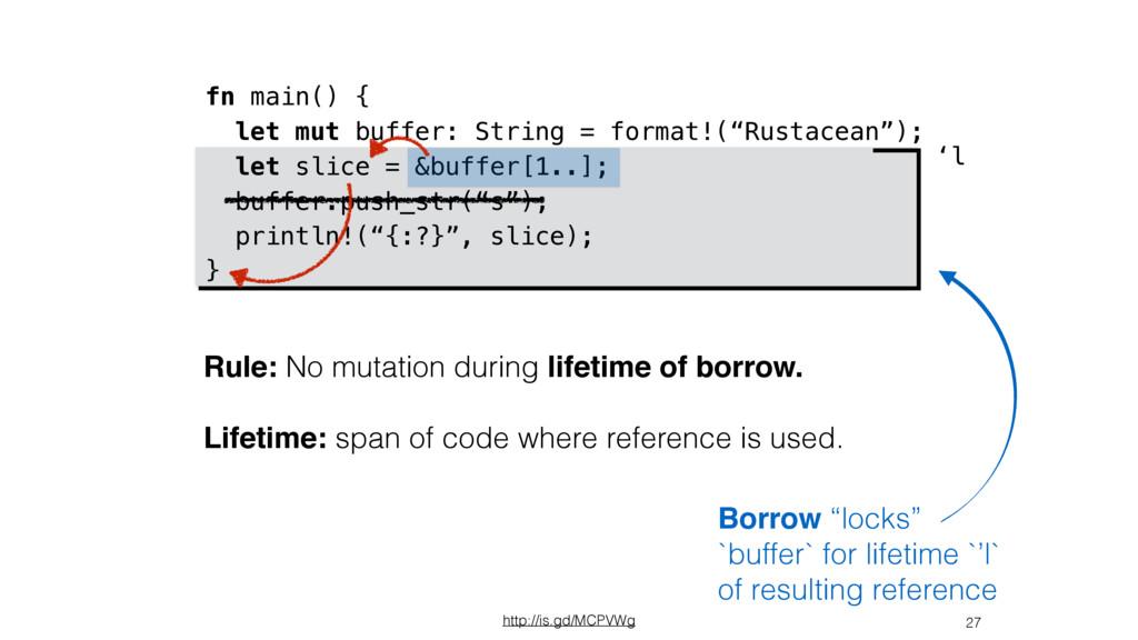 27 fn main() { let mut buffer: String = format!...