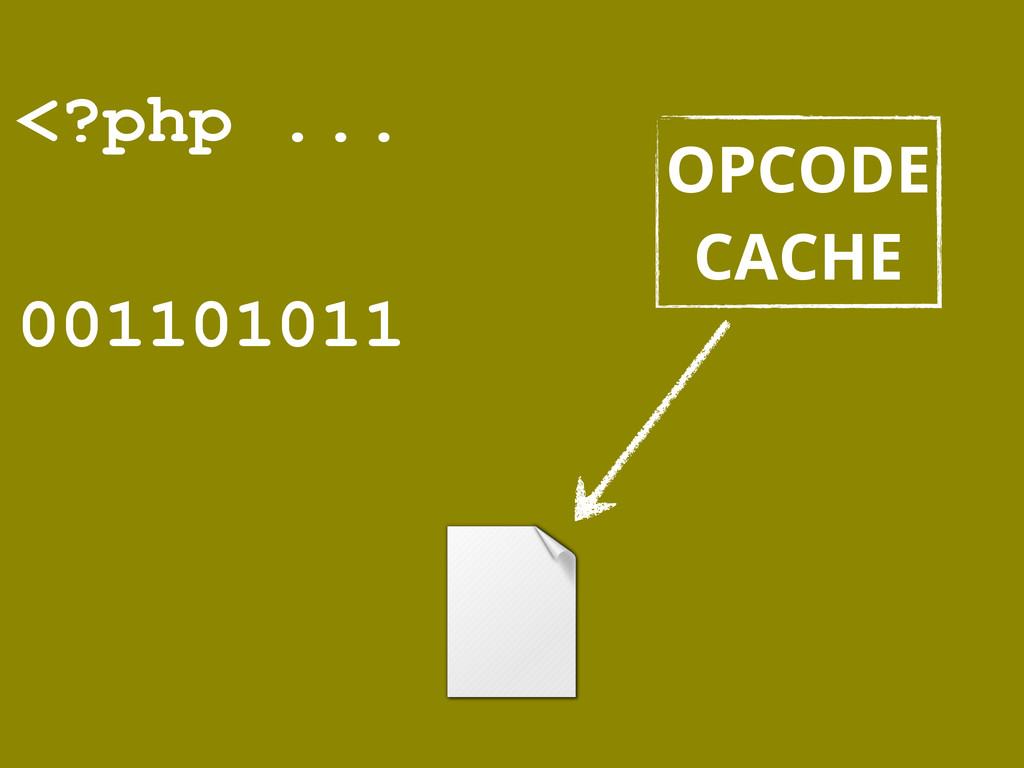 <?php ... 001101011 OPCODE CACHE