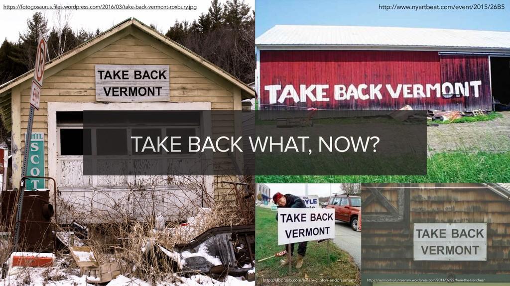 John Eckman • @jeckman • #wcpub TAKE BACK WHAT,...