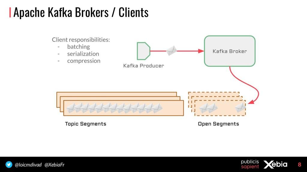 8 @loicmdivad @XebiaFr Apache Kafka Brokers / C...