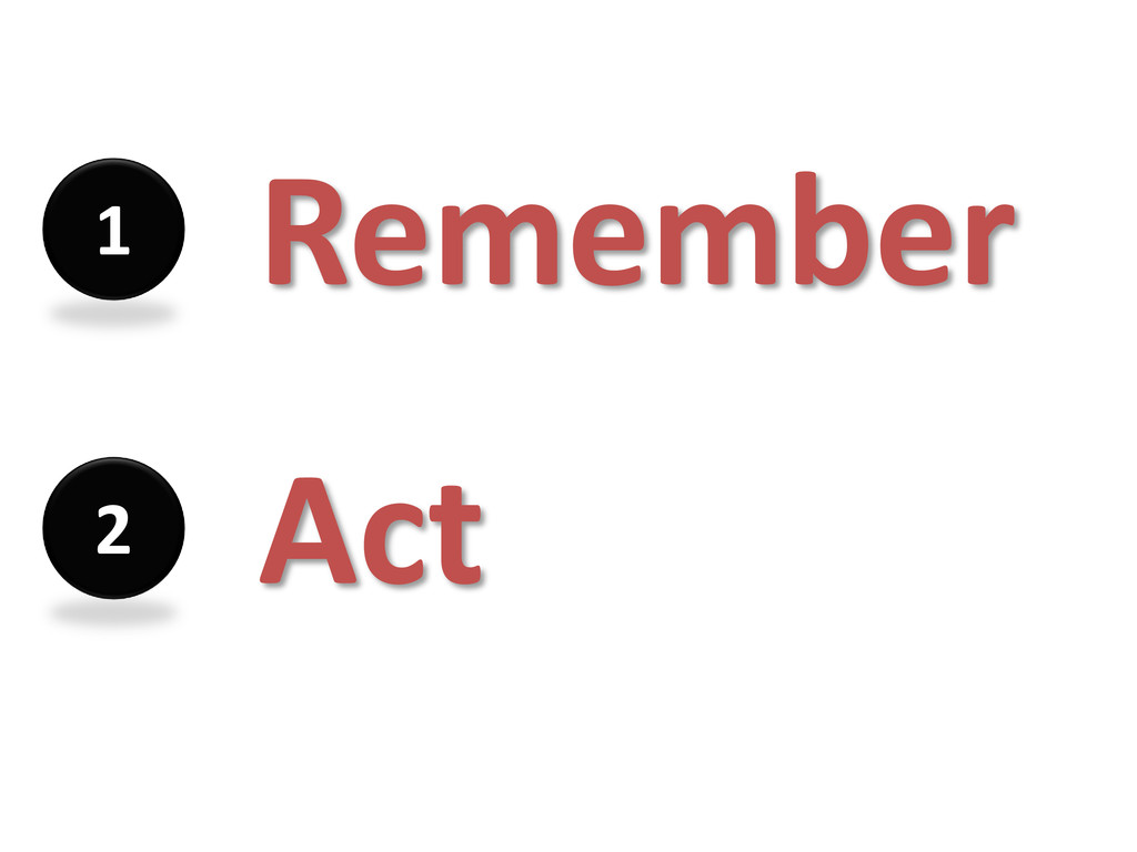 Remember 1 Act 2