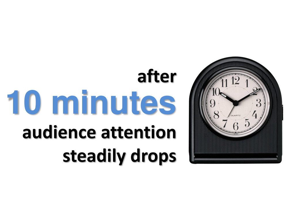 after audience attention steadily drops 10 minu...