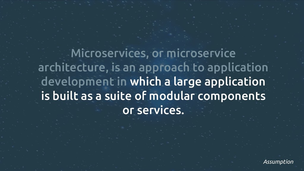 Microservices, or microservice architecture, is...