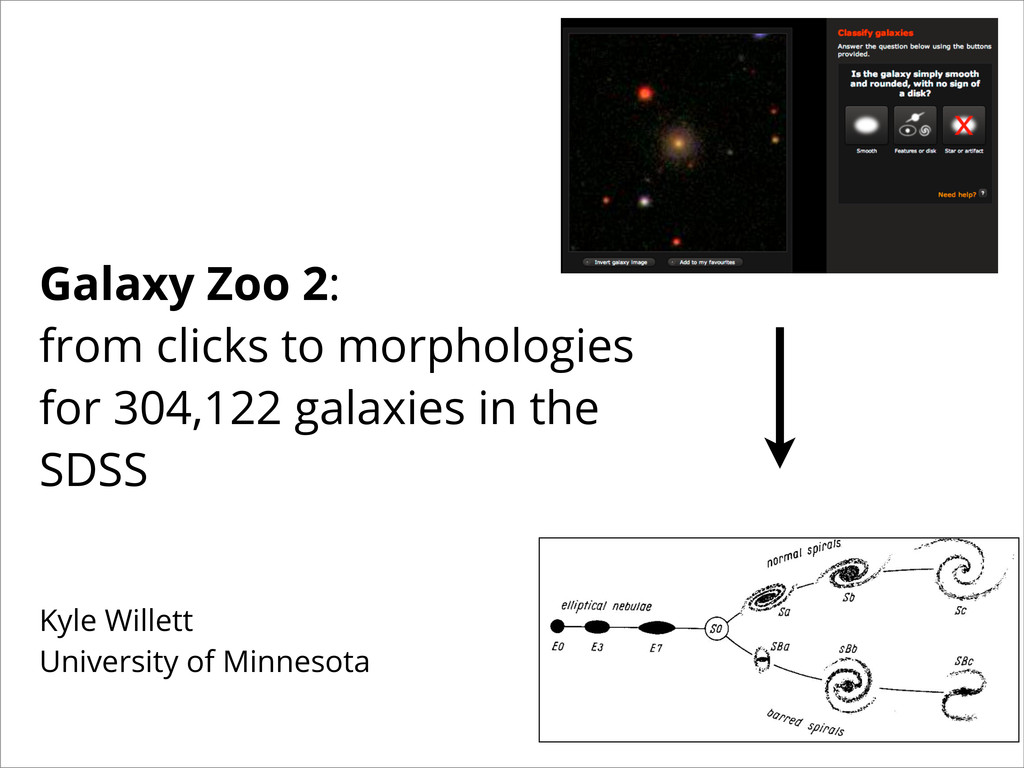 Galaxy Zoo 2: from clicks to morphologies for 3...