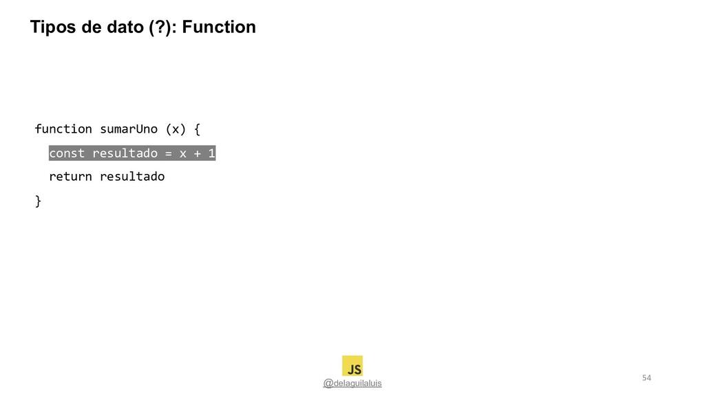 @delaguilaluis function sumarUno (x) { const re...