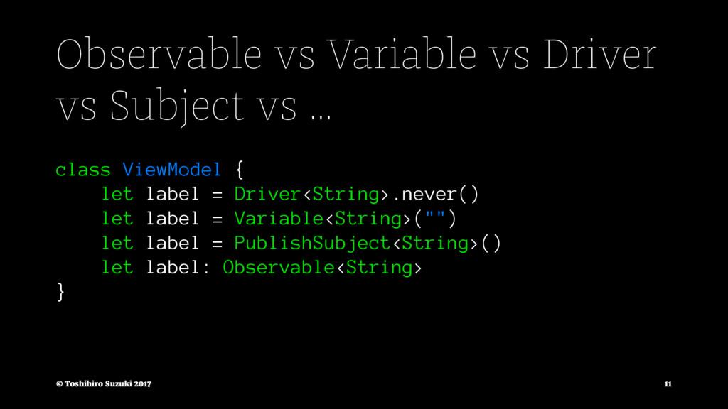 Observable vs Variable vs Driver vs Subject vs ...