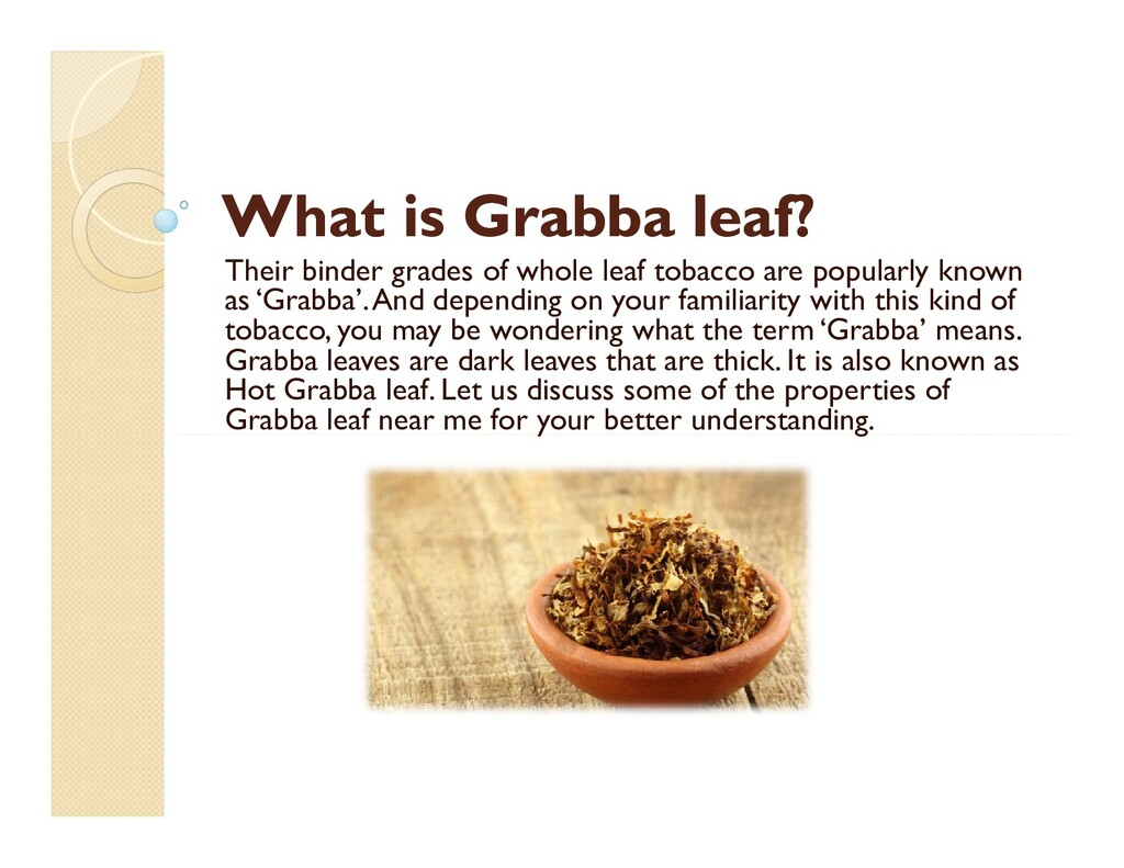 What is What is Grabba Grabba leaf? leaf? Their...