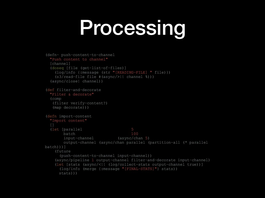 "Processing (defn- push-content-to-channel ""Push..."