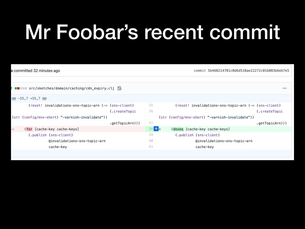 Mr Foobar's recent commit