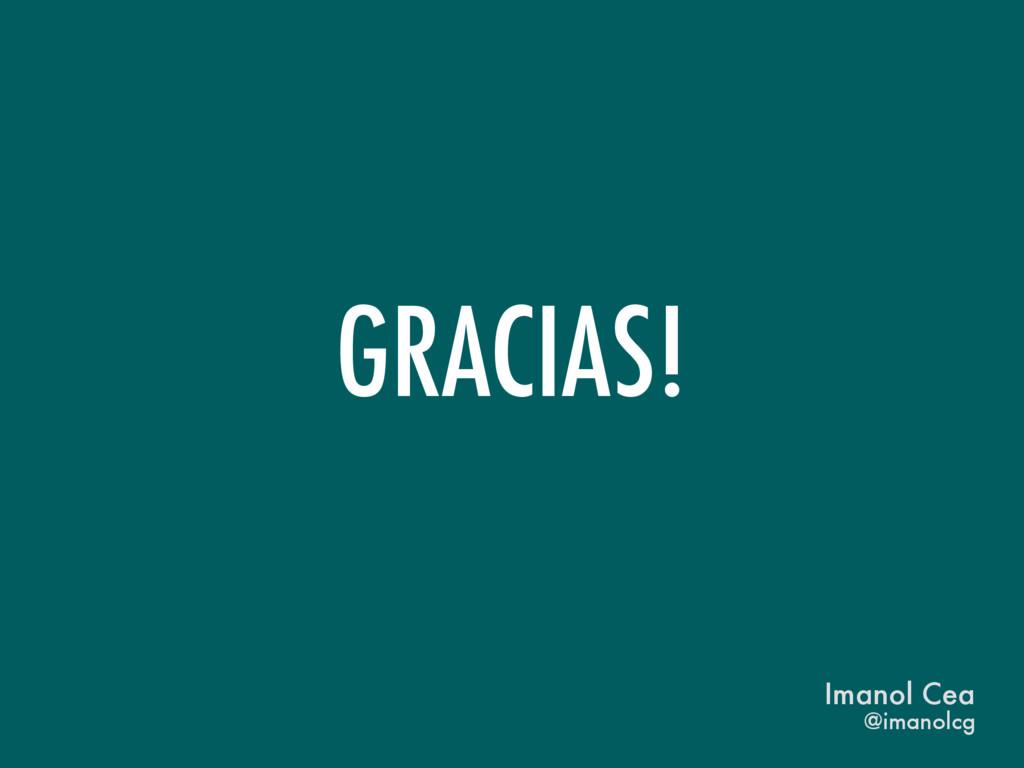 GRACIAS! @imanolcg Imanol Cea