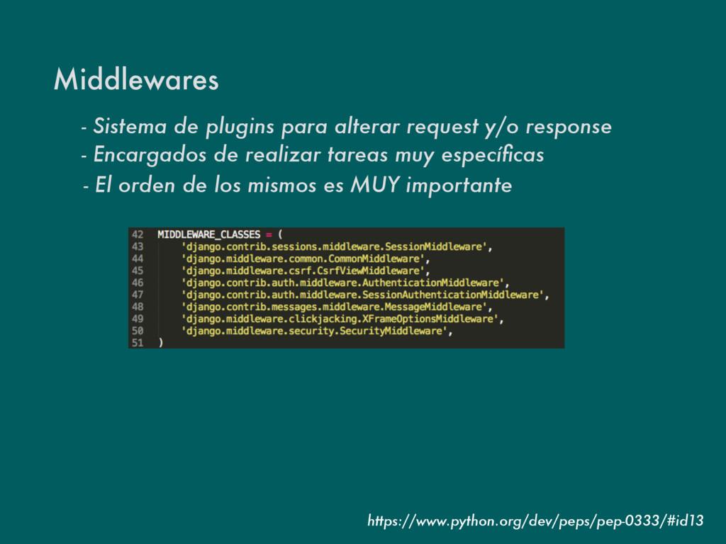 Middlewares - Sistema de plugins para alterar r...