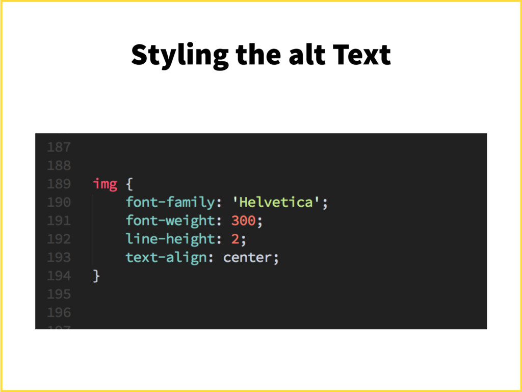 Styling the alt Text