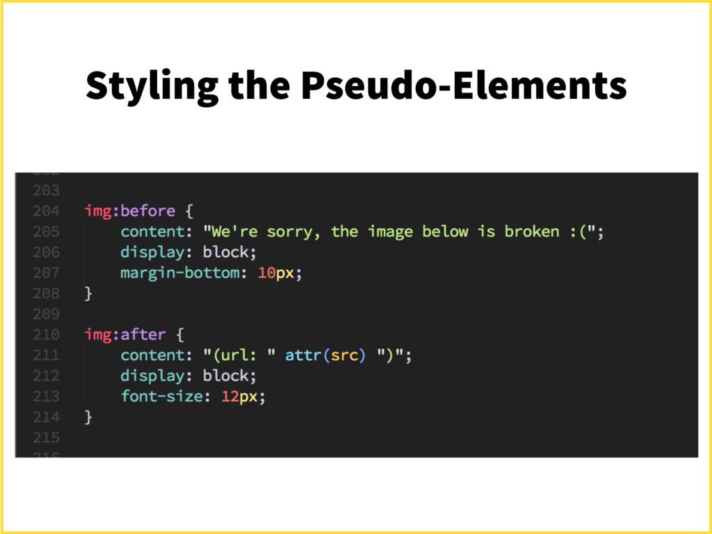 Styling the Pseudo-Elements