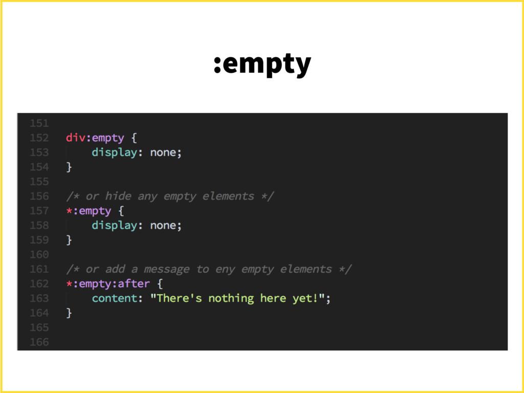 :empty