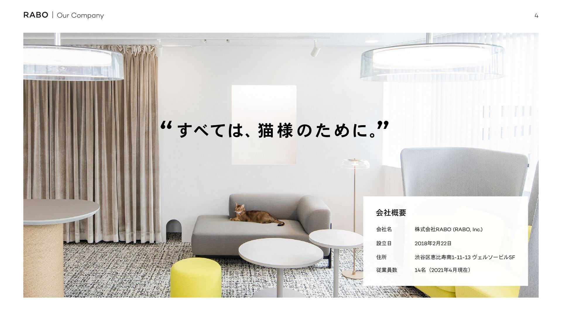 "4 Our Company ͯ͢ɺೣ ༷ ͷͨΊʹɻ "" "" ձ໊ࣾ גࣜձࣾRABO (..."