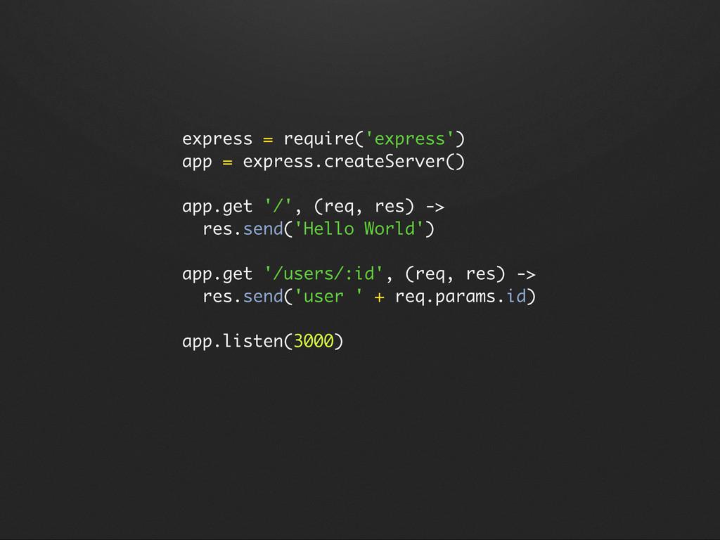 express = require('express') app = express.crea...