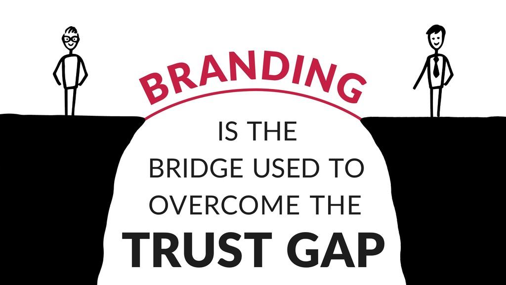 BRANDING IS THE BRIDGE USED TO OVERCOME THE TRU...