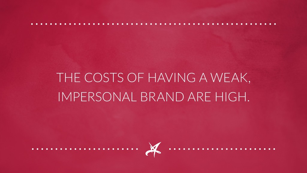 THE COSTS OF HAVING A WEAK, IMPERSONAL BRAND AR...