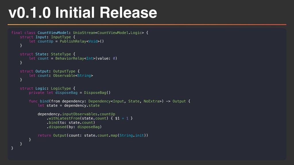 v0.1.0 Initial Release final class CountViewMod...